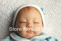 "Unisex Birth-12 months Vinyl 18""Reborn Baby Dolls Lifelike soft doll newborn sleeping baby silicone Vinyl doll toys for girls"