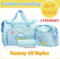 Wholesale Hot fashion handbag mummy mom bag baby infant products nappy bags handbag baby large designer diapers bags