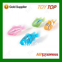Wholesale Colors Electronic Pets Toys Magical Robo Fish Robofish Robot Fish Activated Turbot Electric Swimming Clownfish