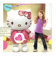 Wholesale Hello Kitty Helium Birthday Party Decoration Inflatable Gift Baby Toys116X68CM Foil Balloons