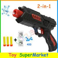 Wholesale Free Ship Paintball Gun Pistol Soft Bullet Gun Plastic Toys CS Game Shooting Water Crystal Gun in Nerf Air Soft Gun Airgun