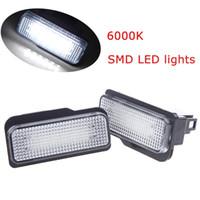 Light Sourcing oem 12V DC 2pcs SMD LED License Plate Light Car Light Source Light Fog Lamp Bulbs Error Free for BENZ W203 Wagon W211 5D W219 6000K