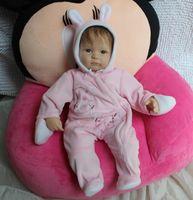 "Unisex Birth-12 months Vinyl Reborn Sweet Baby Girl or Boy 18"" Vinyl Newborn Doll smile sweet with big eyes"