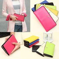 Wholesale Fashion Women Purse Bag Korean PU Leather Long Wallet Women Clutch Bag Pouch Card Holders
