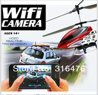 Wholesale 2 G CH U16W Use For Apple Iphone Wifi RC Helicopter With Camera And Gyroscope VS S977 S929 S215 V911 U13A