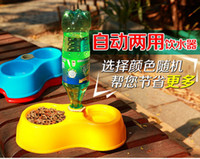 Dogs Yes New High Quality Dual Port Dog Utensils Bowl Cat Drinking Fountain Food Dish Pet Bowl Automatic Water Dispenser Feeder FK871200