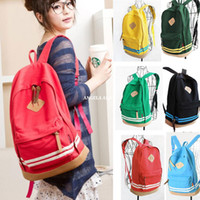 Wholesale New Girl Women Cut Pig Nose Casual Candy Canvas Backpacks Student School Korean Travel bags Rucksack HW03040