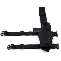 Wholesale Black Tactical Drop Leg Holster Rig Pistol HandGun Thigh Police Puttee OT0064 OT0070