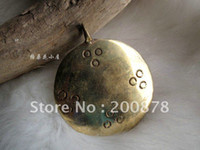 Wholesale Tibet Jewelry TBP353 Tibetan brass circles amulet pendant mm Tibet metal man amulets best offer
