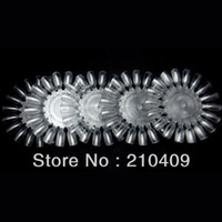 Wholesale Nail Art Tips Practice Round Wheel Polish Acrylic Display Decoration Clear