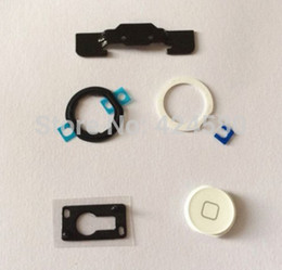 Wholesale Repair Part Kit for iPad Air Home Button Holder White Home Button Pad Ring home button in
