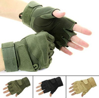 Wholesale S Outdoor Sports FingerlessHunting Military Tactical Airsoft Riding Game Gloves