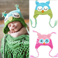 Summer beautiful baby knits - Drop Shipping Beautiful Toddler Baby Girls Boys Owls Animal Crochet Knit Woolly Cap Ear Hat