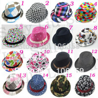 Wholesale Mixed Styles Fashion Children Hat Dicers Baby Fedora Hats Cowboy Hat Kids Fedoras Cap