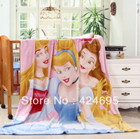 Wholesale Home Textile Three Princesses Children cartoon Coral fleece blankets on the bed bedclothes cover throw CM