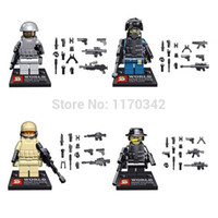 Wholesale SY168 Squad Navy Seal Team SWAT Army Police City Officer Figures Building Blocks Sets Model Toys