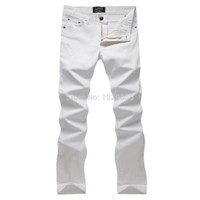 best pencil brand - best selling brand of micro bomb classic white jeans men s jeans Slim D13109