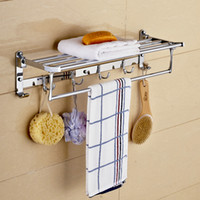 Wholesale Folding towel rack stainless steel hook towel rack bathroom accessories