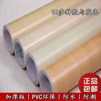 Wholesale Waterproof wood grain furniture film paper wardrobe door kitchen cabinet self adhesive wallpaper