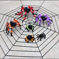 Fiber halloween cobweb - Halloween Haunted House Bar Decoration Supplies Cobwebs m m White Big Thick Lines Black Spider Web Halloween Decoration