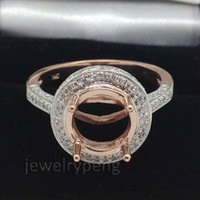 South American rose gold ring semi mount round - Round mm Kt Rose Gold Ct Diamond Wedding Engagement Semi Mount Ring
