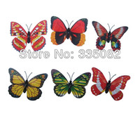 Wholesale 36PCS cm Colorful D Artificial Butterflies with Magnet for curtains refrigerator wedding