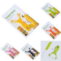kitchen knives set - Ultra Sharp quot Peeler Kitchen Ceramic Knife Set Cutlery Knives Colors