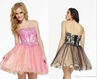 Reference Images Organza Sweetheart Lace Beaded Corset Homecoming Dresses 2014 Pink Black Girls Garde Graduation Dress Sweetheart Short Cocktail Prom Gowns Organza Lace-up