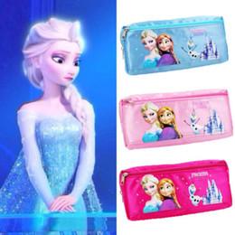 Wholesale Details about Mini Frozen Elsa Anna Painting schoolbag Pen Case Student s Pencil Bag Pocket