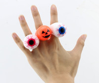 ring gag - Color In Random New Fashion Novelty Gag Toys Light Up Toys Rings For Halloween Festival