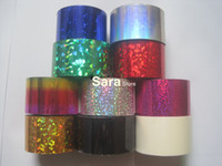 Decal 2D Metal WholeSale 10 roll 0.04m*120m Nail Foil nails sticker colored aluminum nail transfer foil paper Free shipping XK03