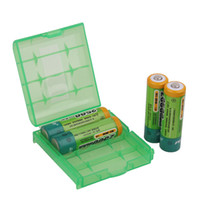 Wholesale 10pcs Green Color Battery Box For Camera DV AA AAA Battery Storage Box Case tracking number