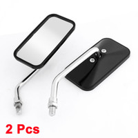 Wholesale Black Silver Tone Metal Casing Motorcycle Rear View Blind Spot Mirrors