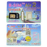 Wholesale R SIM Air2 Unlock Card IOS x x R Sim RSIM Air Unlock for iPhone iPhone iPhone C iPhone S via DHL fast shipping