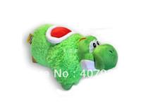 2-4 Years Green plush yoshi Pillow 50pcs 18 inch Super Mario plush green Bros animals stuffed useful Pillows fashion