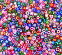 Bead Caps Round Shape Glass 100Gram Mixed Glass Seed Bead 10 0 Jewelry Making 2x2mm