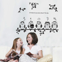 Graphic vinyl PVC Animal Children living room decorated with branches owl a bedside wall stickers JM8353 factory outlets