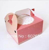 Wholesale Four pack egg tart box lovely pink cake box cooking tools