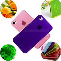 Wholesale Slim mm Matte Case Cover Skin for iPhone S For iPhone4 S G Moblie Phone Protection Shell Cases PSN AND S006