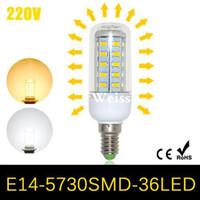 Wholesale SMD E14 LED Corn bulb lamp W LEDs Energy Efficient AC V V home Spotlight LED Chandelier pendant light