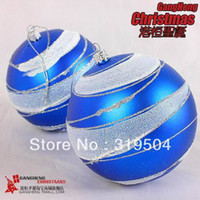 Wholesale Mini mixed order Christmas tree decoration ornaments cm high blue sticky powder painted Christmas balls g