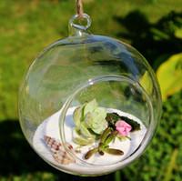 Wholesale New Arrive Borosilicate Glass Hanging Vase Tabletop Vases Home Deco Transparent Diameter cm