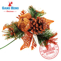 Wholesale Christmas tree decoration cm cuttings mosaic Christmas pine cone Furnishing g