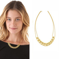 Wholesale No Min Order Gold Hollow Chain Pendants Double Chains Necklace for Women Boys Jewelry