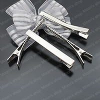 Wholesale Fashion Jewelry Findings Accessories Iron Imitation Rhodium MM Hair Jewelry Hair clip