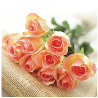 Wholesale Furnishings artificial flower dried flowers silk flower decoration flower French single rose