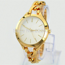 Wholesale 2016 New Fashion Style Women Watch Lady Watch With Big Dial Rose Gold Diamond Steel Bracelet Chain Luxury Watch High Quality