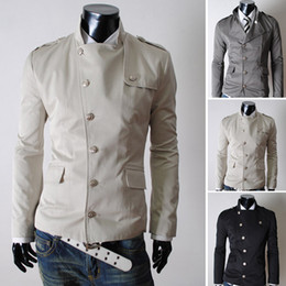 Wholesale 2014 Hitz coat Men ramp access brochure design European style black casual jacket Slim