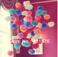 Wholesale 20pcs quot Tissue Pom Poms Paper Flowers Ball Paper Peony Bouquet Garland Decoration Artificial Flowers For Decoration