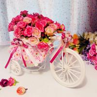 Wholesale lPretty tricycle Artificial flowers decorative flowers set dresser wedding decoration flowers tricycle